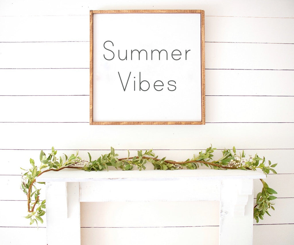Summer Vibes Boho Modern Wooden Sign