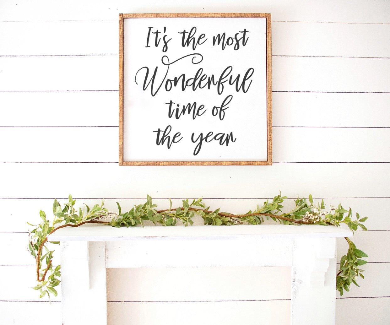 Its the most Wonderful time of year Farmhouse Wooden Sign