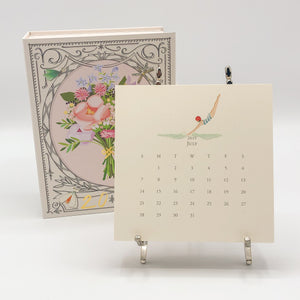 2020 Calendar with Silver Easel (12 Month)