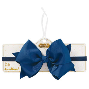Light Navy Soft Bow Headband