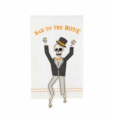 Bone Dangle Skeleton Towel