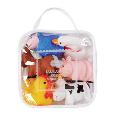 Farm Animal Bath Rubber Toy Set