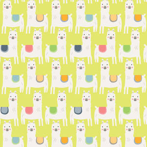 Little Llamas Gift Wrap