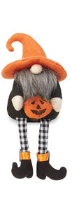 Jack O' Lantern Dangle Leg Gnome