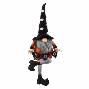 Medium Dangle Leg Halloween Gnome