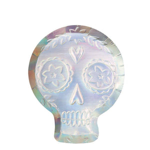 Holographic Sugar Skull Plate
