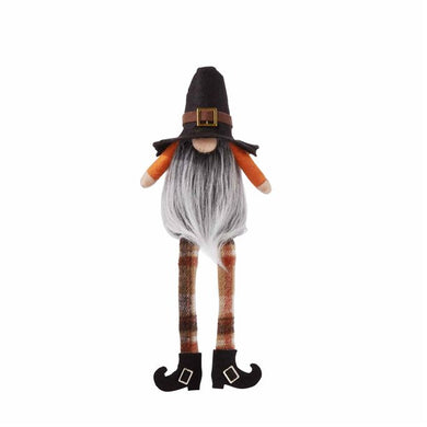 Fall Pilgrim Dangle Leg Gnome
