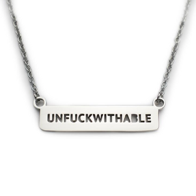 Unfuckwithable Necklace (Silver)
