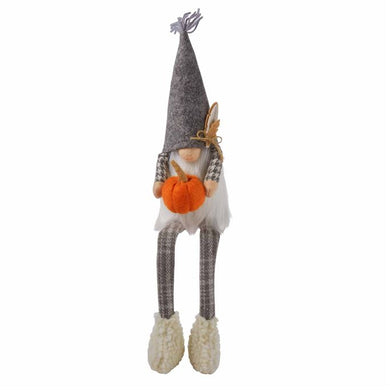 Fall Pumpkin Dangle Leg Gnome