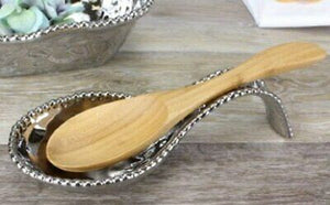 Verona Spoon Rest in Titanium Silver