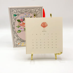 18 Month 19-20 Calendar with Gold Easel