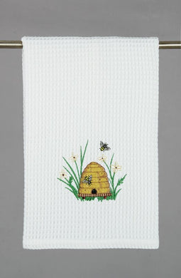 Bees Please Waffle Weave Towel