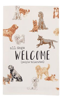 Welcome Dog Dish Towel
