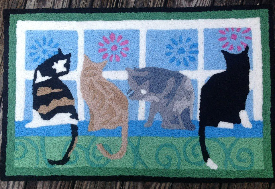 Kitties In The Window Indoor/Outdoor Rug