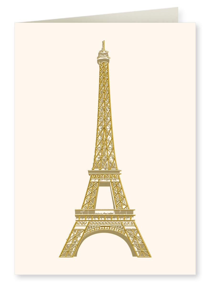 Gold Foil Eiffel Tower Gift Notes Boxed