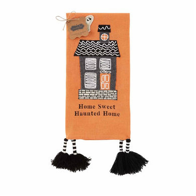 Orange Haunted House Towel
