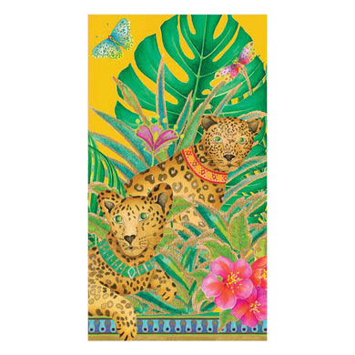 Leopards in Yellow Guest Towels