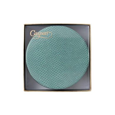 Mist Round Snakeskin Felt-Backed Coasters