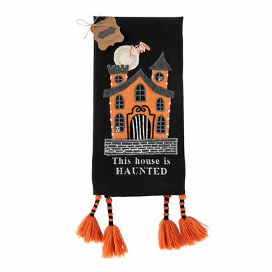 Black Haunted House Towel