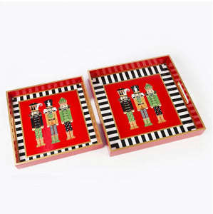 Nutcracker Tray Trio Square Set