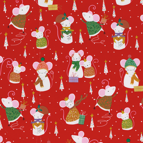 Simon Says Red Gift Wrap