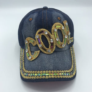 "Gold Bling ""Cool"" Ball Cap"