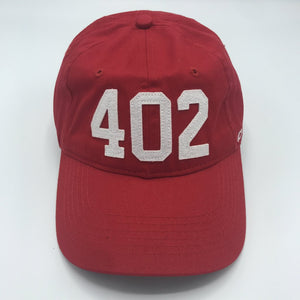 402 (Code)Word Red Baseball Cap