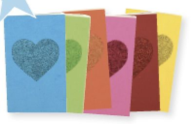 Glitter Heart Rainbow Journal Set