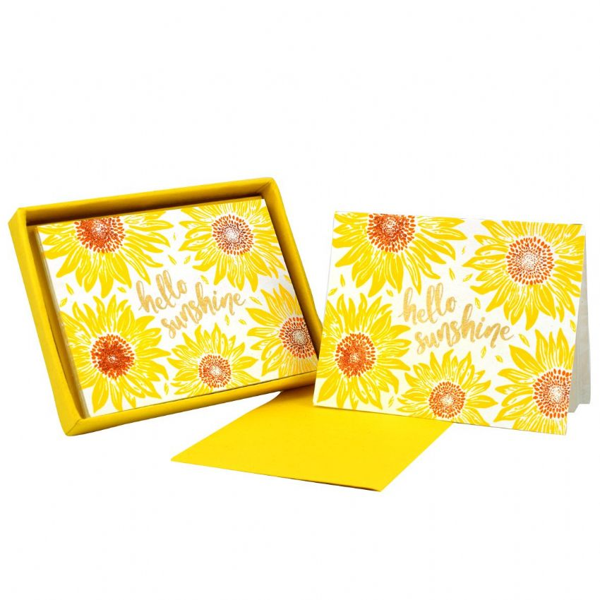 Hello Sunshine Sunflower Note Cards