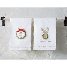 Load image into Gallery viewer, Welcome Deer French Knot Hand Towel