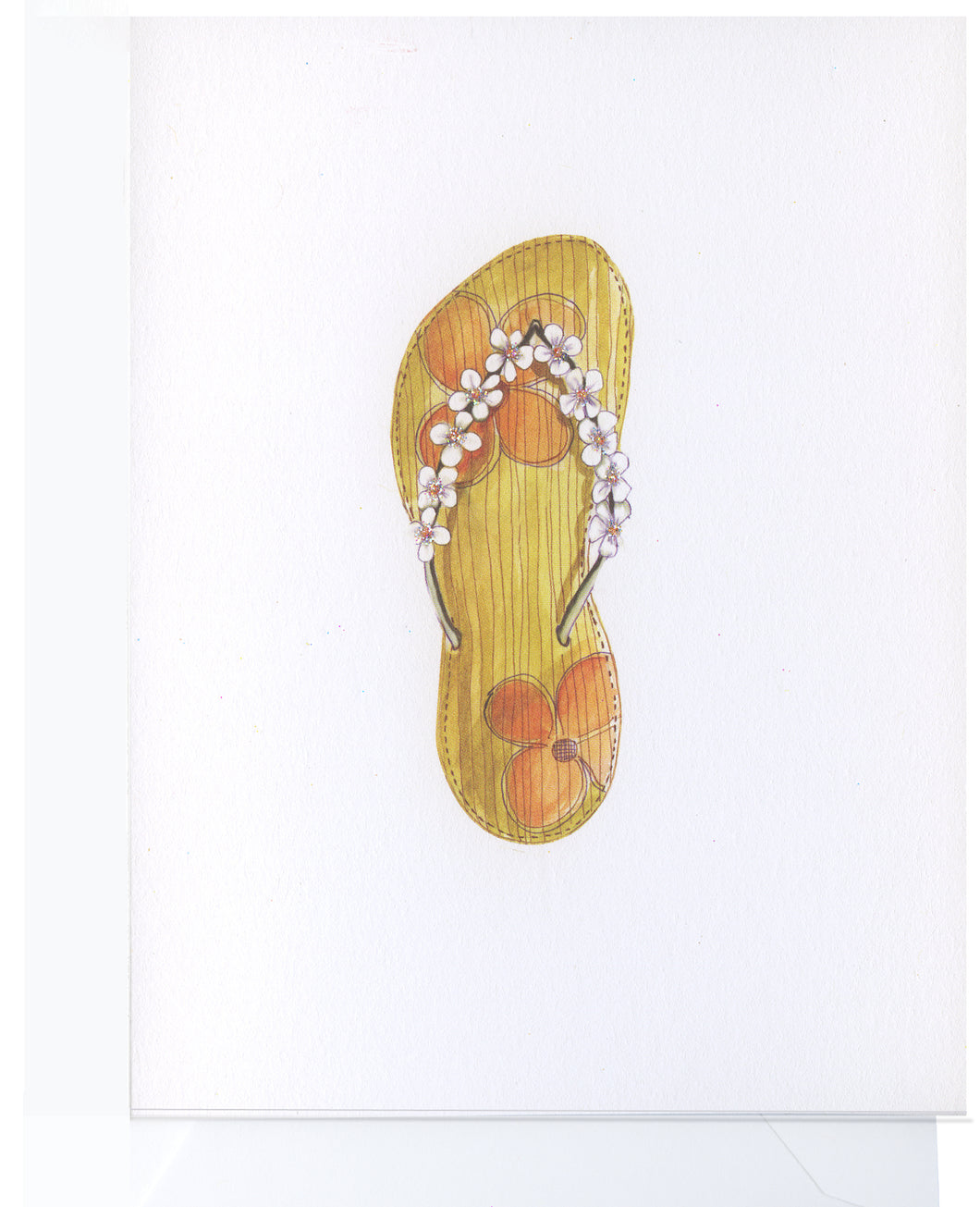 Sandals with Flowers Boxed Note Cards