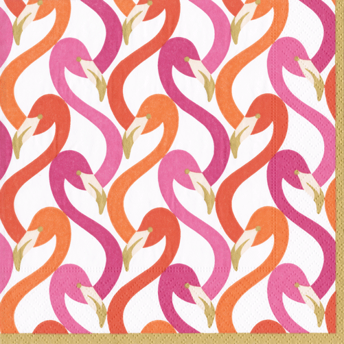 Flamingo Flock Boxed Cocktail Napkins