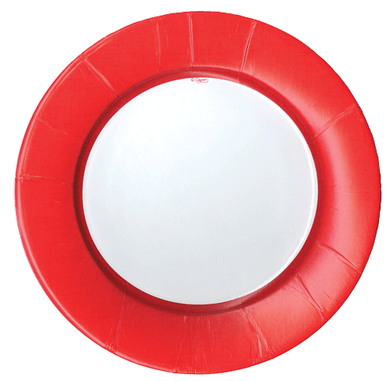 Linen Red Plates