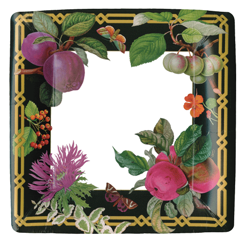 Decoupage Garden Square Dinner Plate