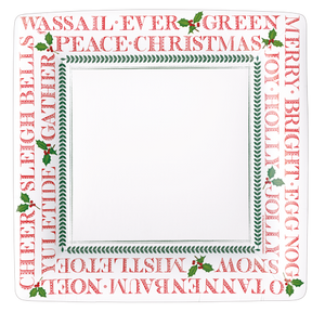 Yuletide Square Dinner Plate