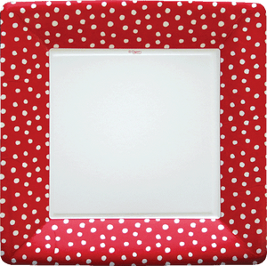 Small Dots Square Dinner Plate