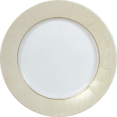 Ivory Moire Plates