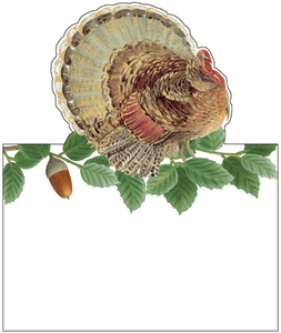 Turkey and Acorns Place Cards