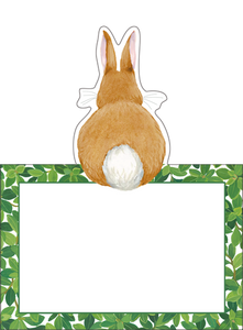 Bunnies and Boxwood Place Cards