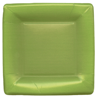 Grosgrain Green Square Salad Plate