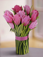 Load image into Gallery viewer, Paper Bouquet- Pink Tulips