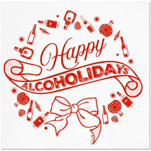 Alcoholidays Cocktail Napkin