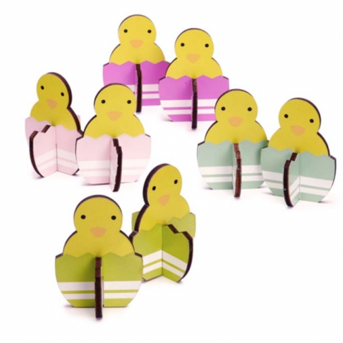 Spring Chick Decorations Set of 8