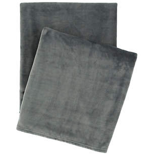 Selke Fleece Throw in Shale