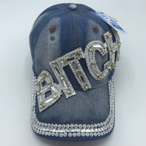 Silver Bling Ball Cap
