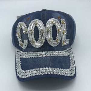 "Silver Bling ""Cool"" Ball Cap"