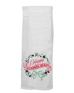 Happy Alcoholidays Flour Sack Towel