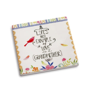 Life's Best Example of Love is A Grandmother Stone Coaster