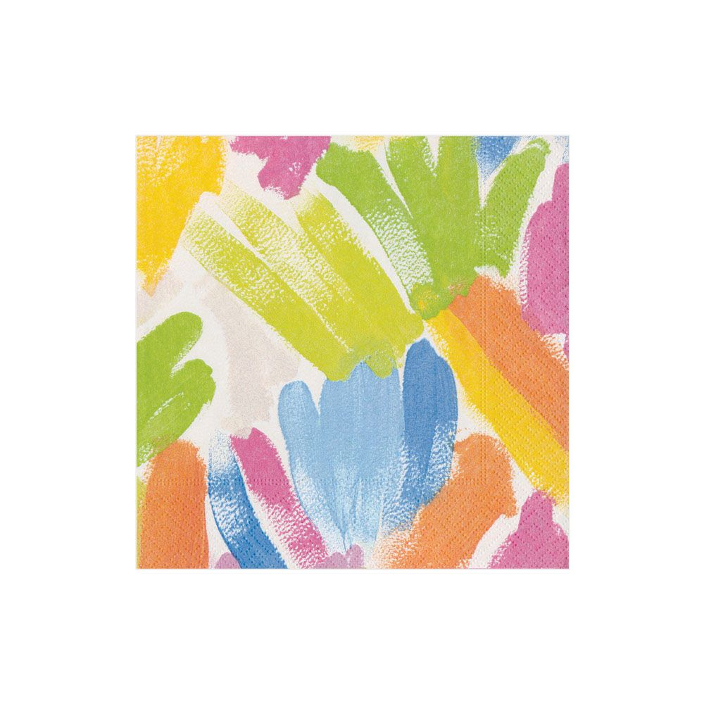 Brushstroke Boxed Cocktail Napkins