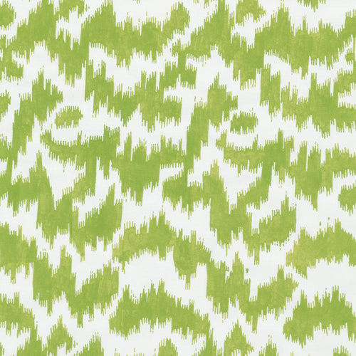 Modern Moire Green and White Gift Wrap